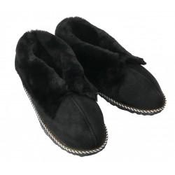 F030 - Papuci casa din blana si piele naturala femei (botosi)