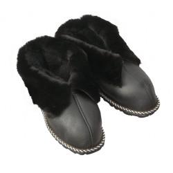 F032 - Papuci casa din blana si piele naturala femei (botosi)