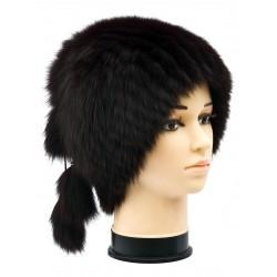 CF0039 - Caciula din blana de vulpe polara intreaga pentru femei