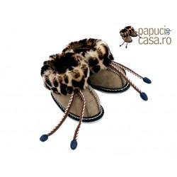 C002-Papuci casa din piele naturala copii