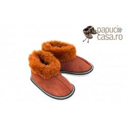 C004-Papuci casa din piele naturala copii