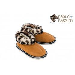 C005-Papuci casa din piele naturala copii