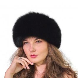 CF106 - Caciula din piele si blana naturala de vulpe pentru femei