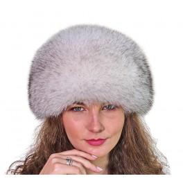 CF110 - Caciula din piele si blana naturala de vulpe pentru femei