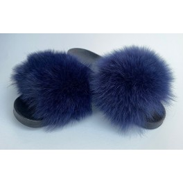 Papuci din blana de vulpe