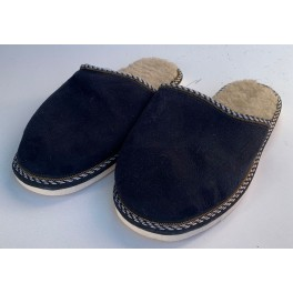 Papuci casa din blana si piele naturala